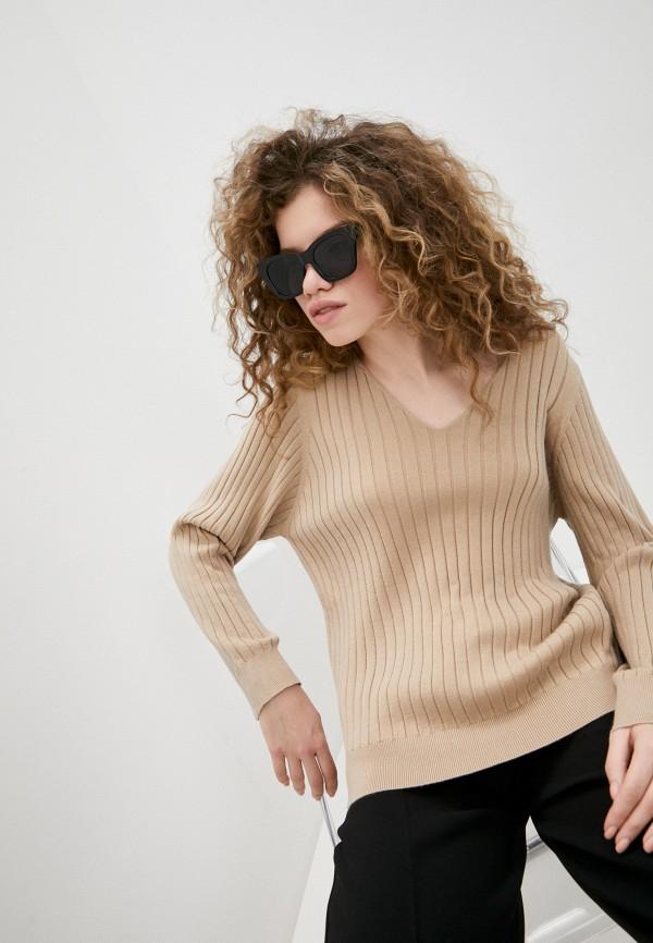 женский пуловер ichi, бежевый