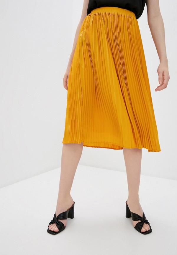 женская плиссированные юбка ichi, желтая