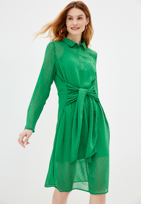 женское повседневные платье ichi, зеленое