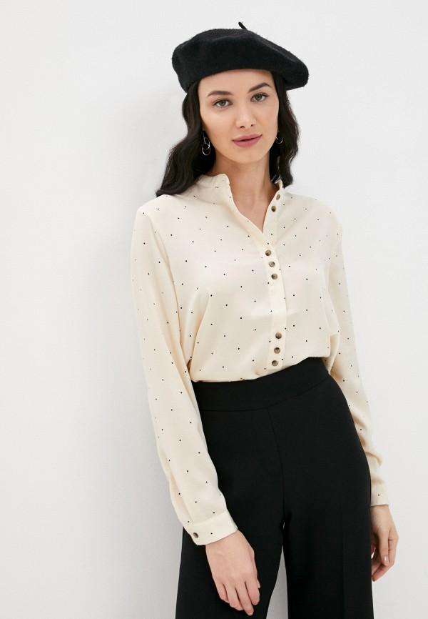 женская блузка ichi, бежевая