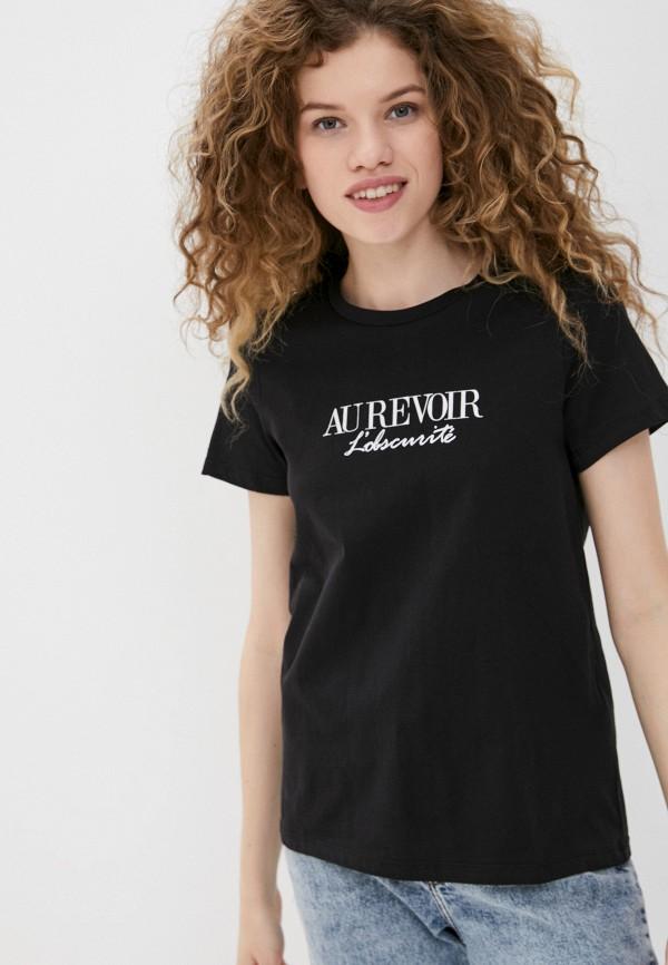 женская футболка ichi, черная