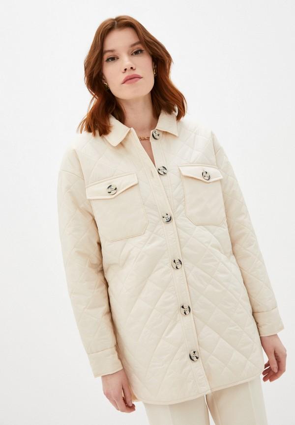 женская куртка ichi, бежевая