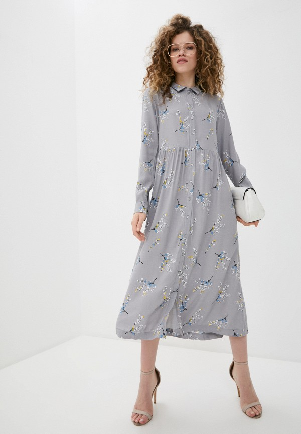 женское повседневные платье ichi, серое