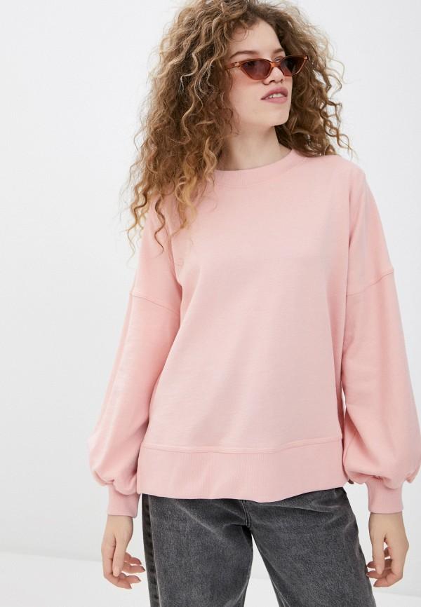 женский свитшот ichi, розовый