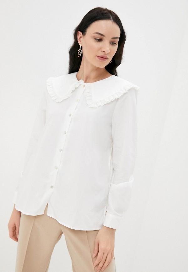 женская рубашка с длинным рукавом ichi, белая