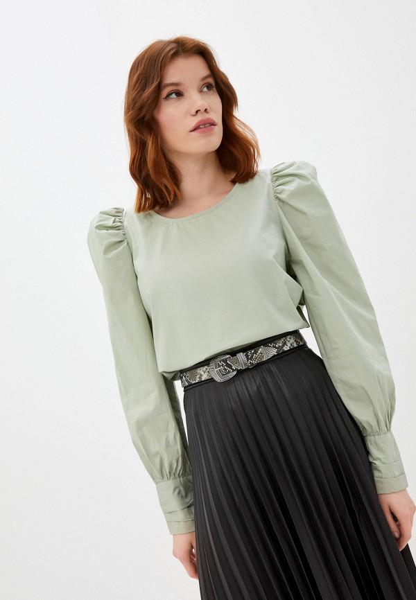 женская блузка ichi, зеленая