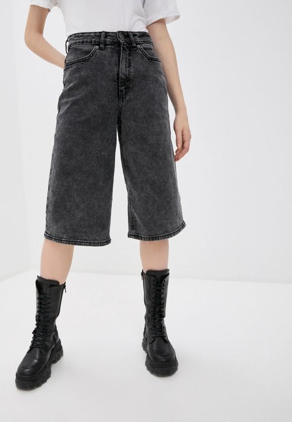 женские джинсовые шорты ichi, серые