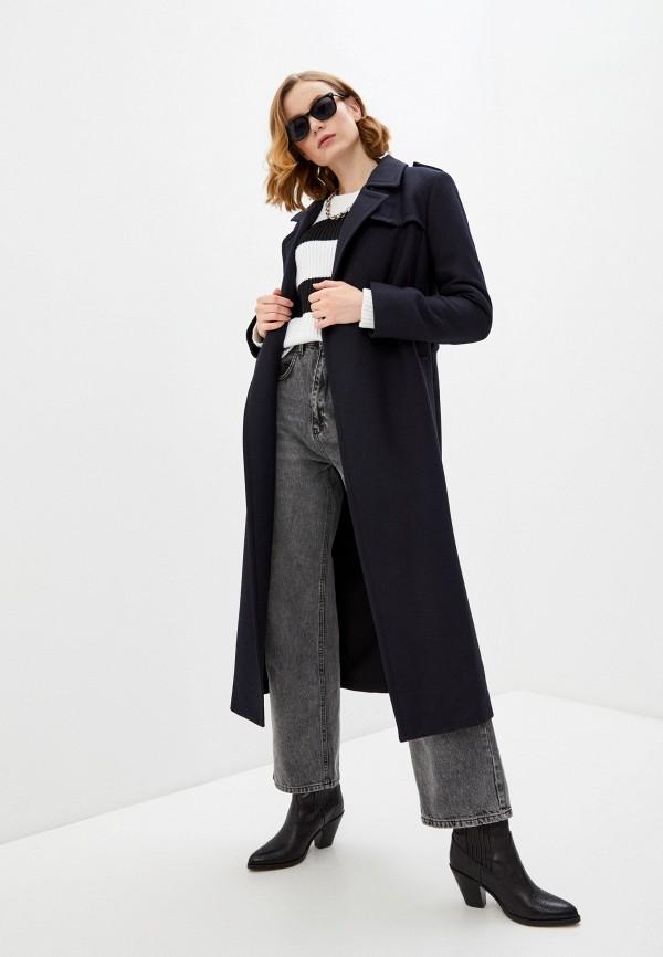 женское пальто french connection, синее