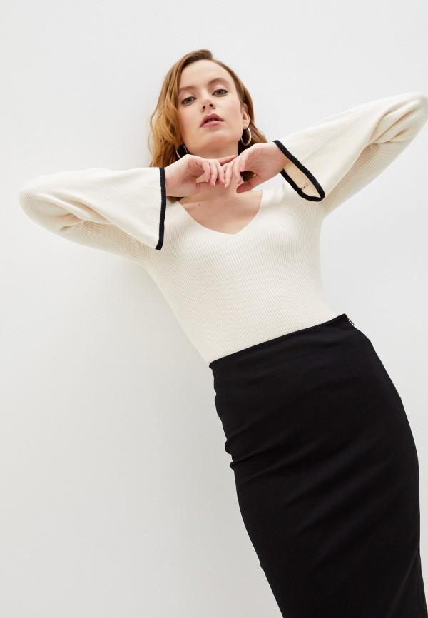 женский пуловер french connection, бежевый