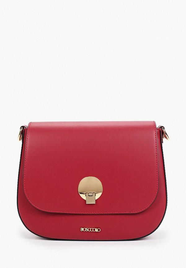 женская сумка bosccolo, бордовая