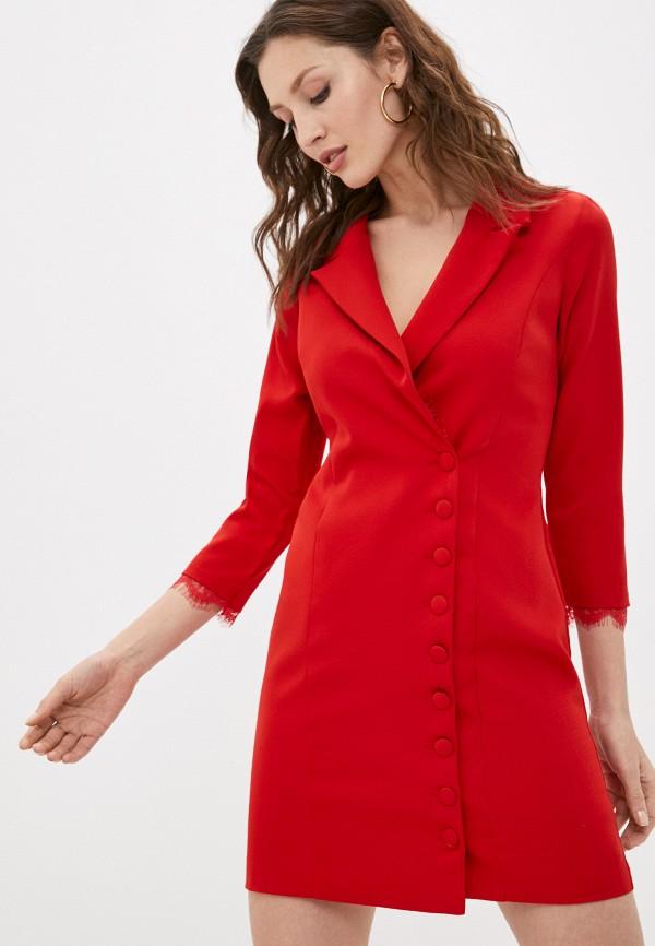 женское платье hey look, красное