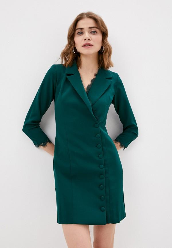 женское платье hey look, зеленое