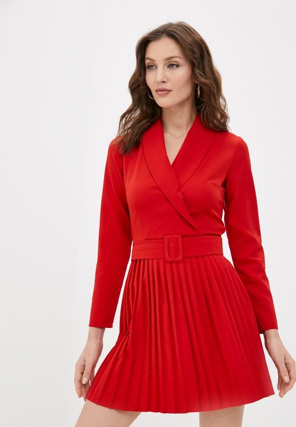 женское повседневные платье hey look, красное