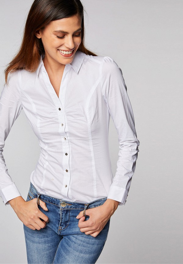 женская рубашка с длинным рукавом morgan, белая