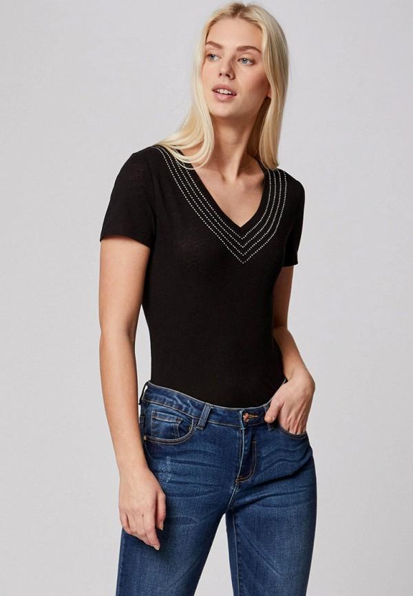 женская футболка morgan, черная