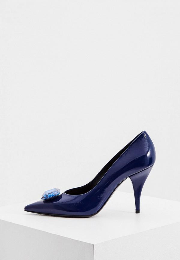 женские туфли casadei, синие