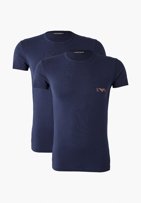 мужская футболка emporio armani, синяя