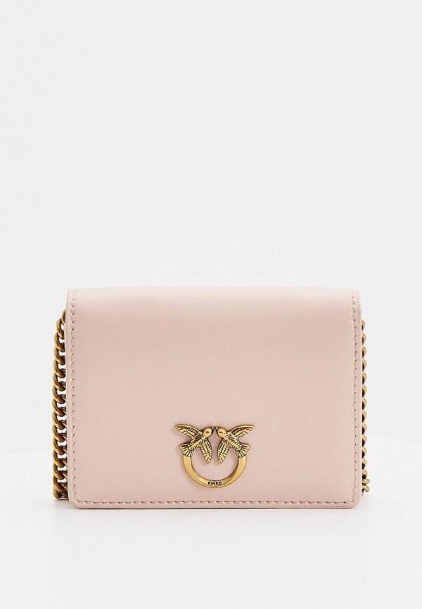 женский кошелёк pinko, розовый