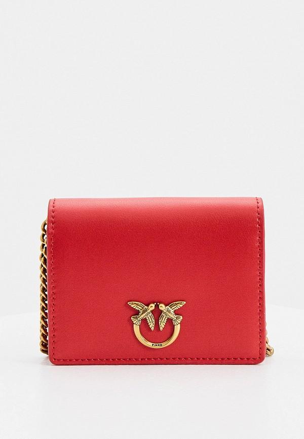 женский кошелёк pinko, красный