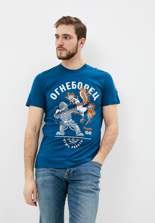 мужская спортивные футболка mother russia, синяя