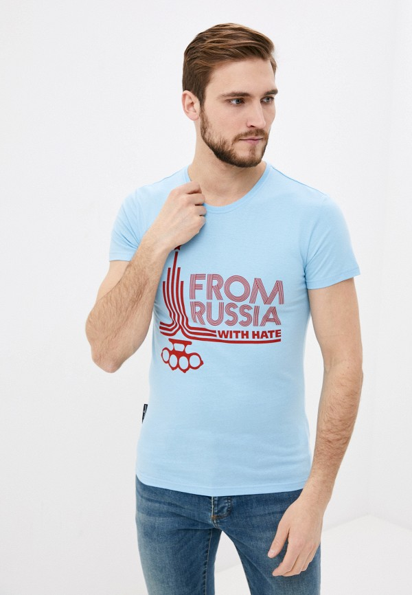 мужская спортивные футболка mother russia, голубая