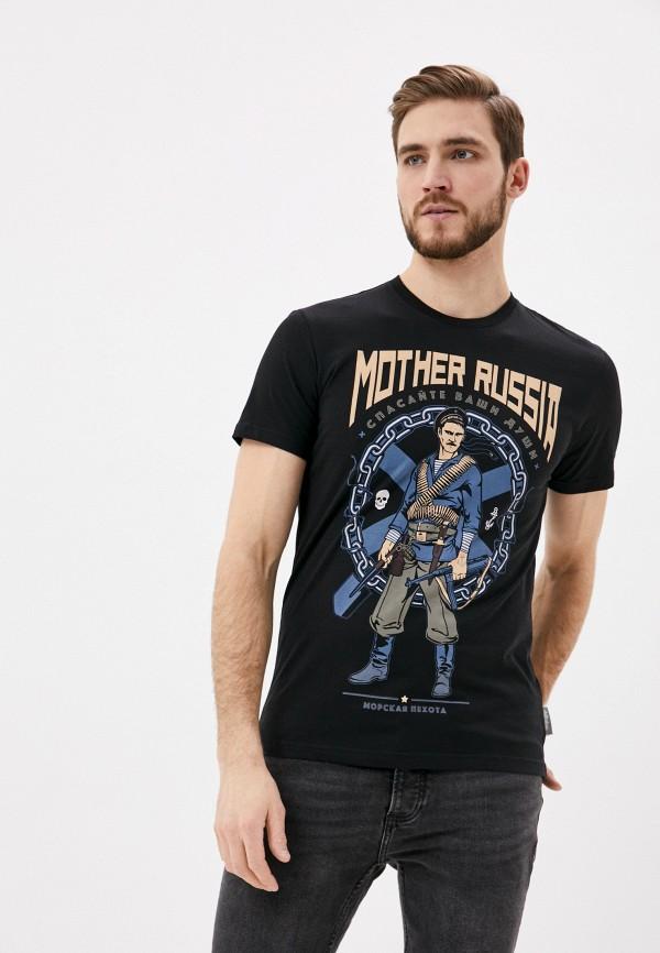 мужская спортивные футболка mother russia, черная