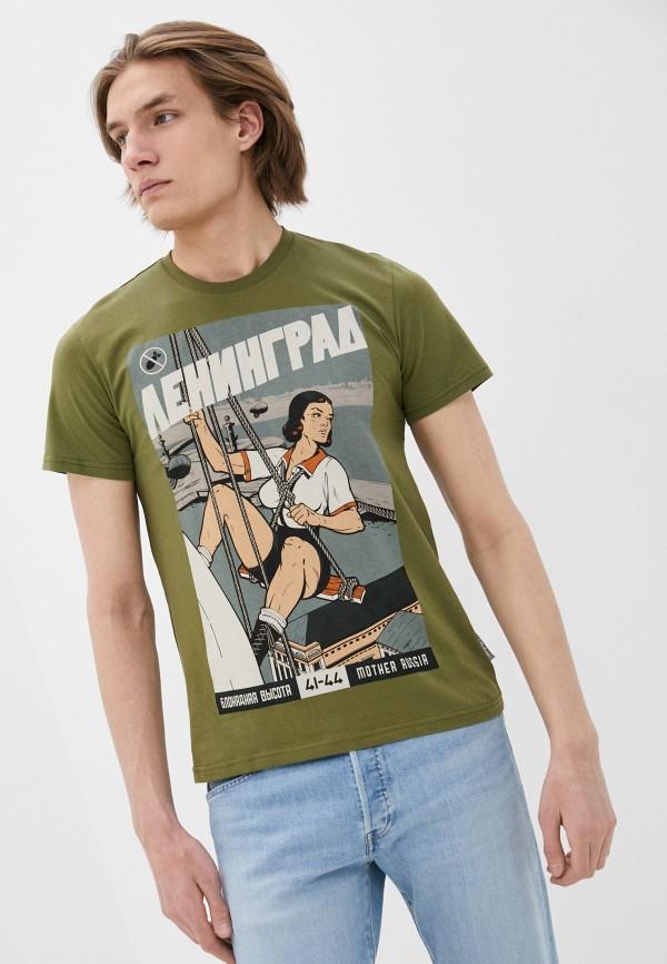 мужская спортивные футболка mother russia, хаки