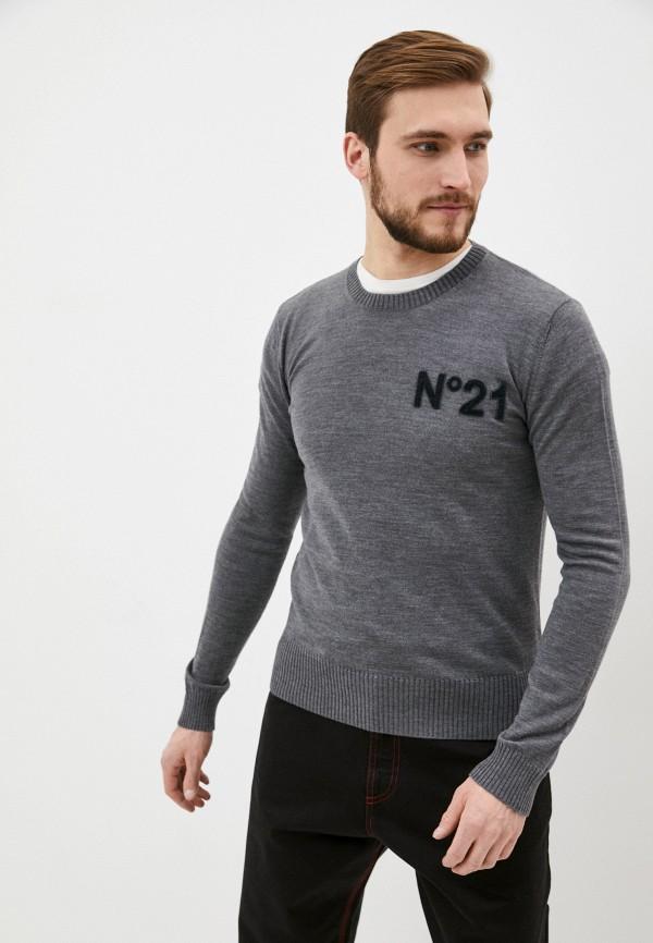 мужской джемпер n21, серый