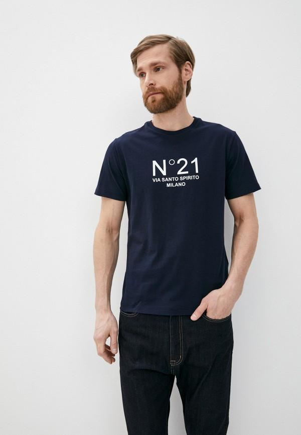 мужская футболка n21, синяя