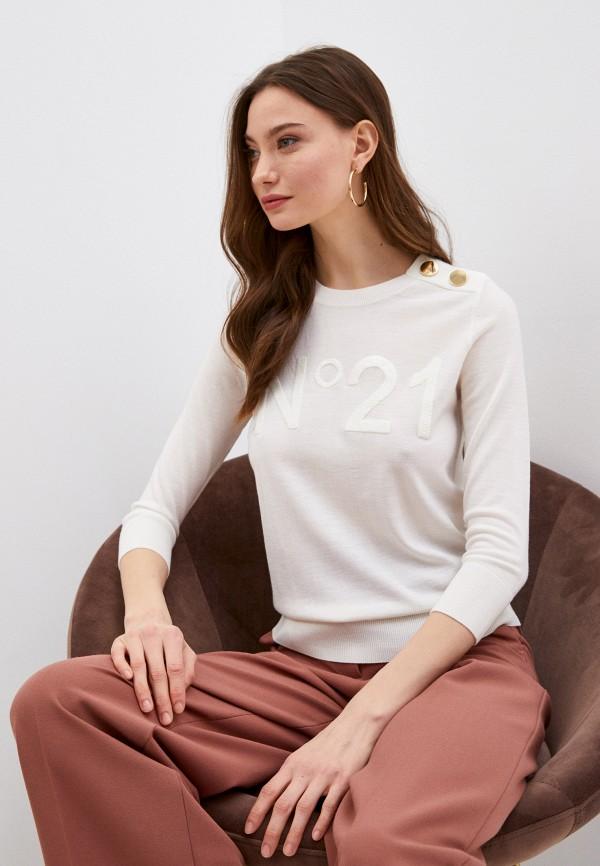 женский джемпер n21, белый