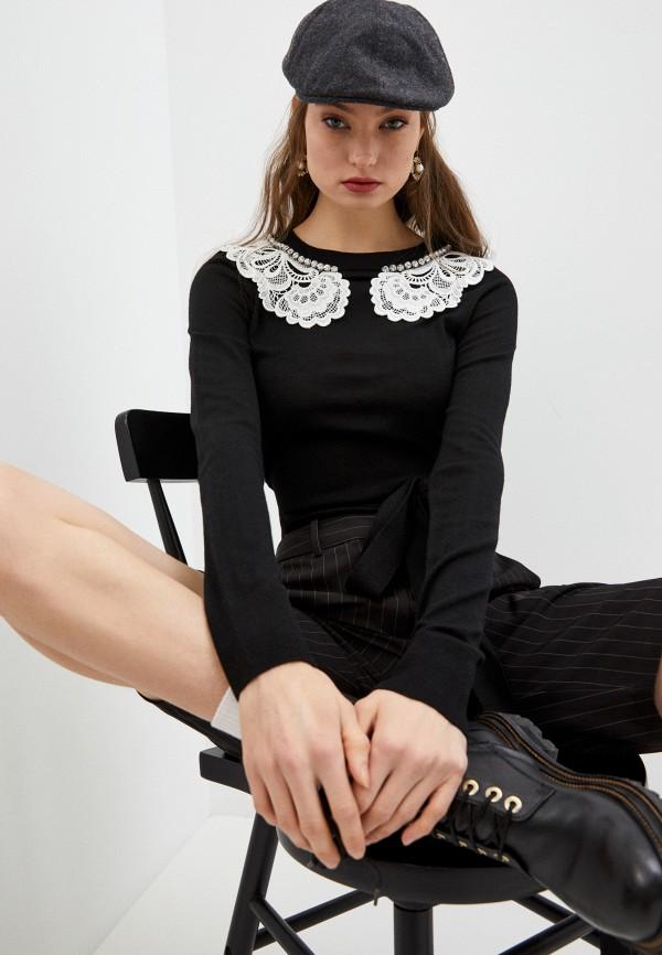 женский джемпер n21, черный