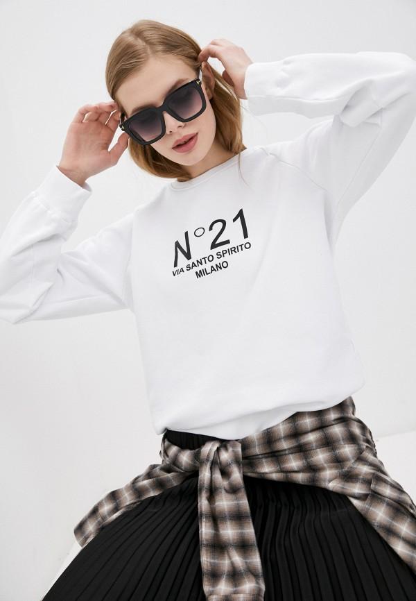 женский свитшот n21, белый