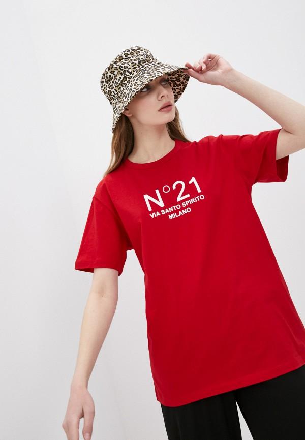 женская футболка n21, красная