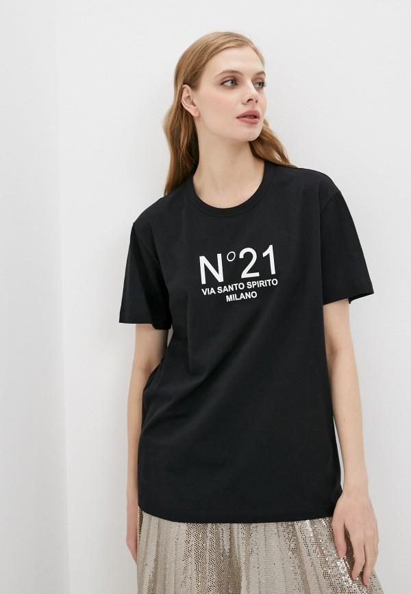 женская футболка n21, черная