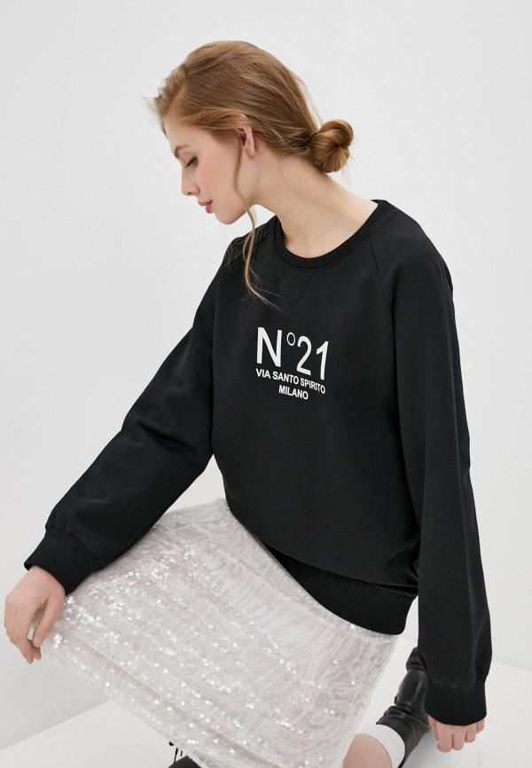 женский свитшот n21, черный