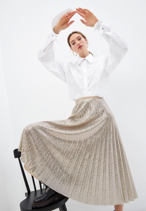 женская рубашка с длинным рукавом n21, белая