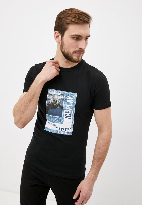 мужская футболка ice play, черная