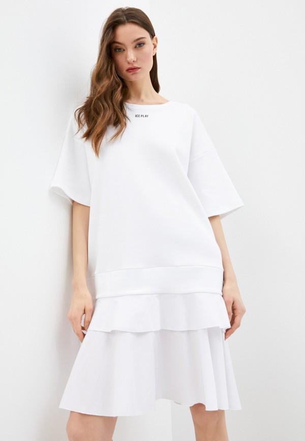 женское платье ice play, белое