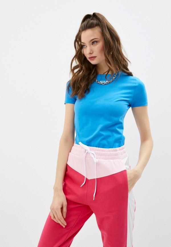женская футболка ice play, голубая