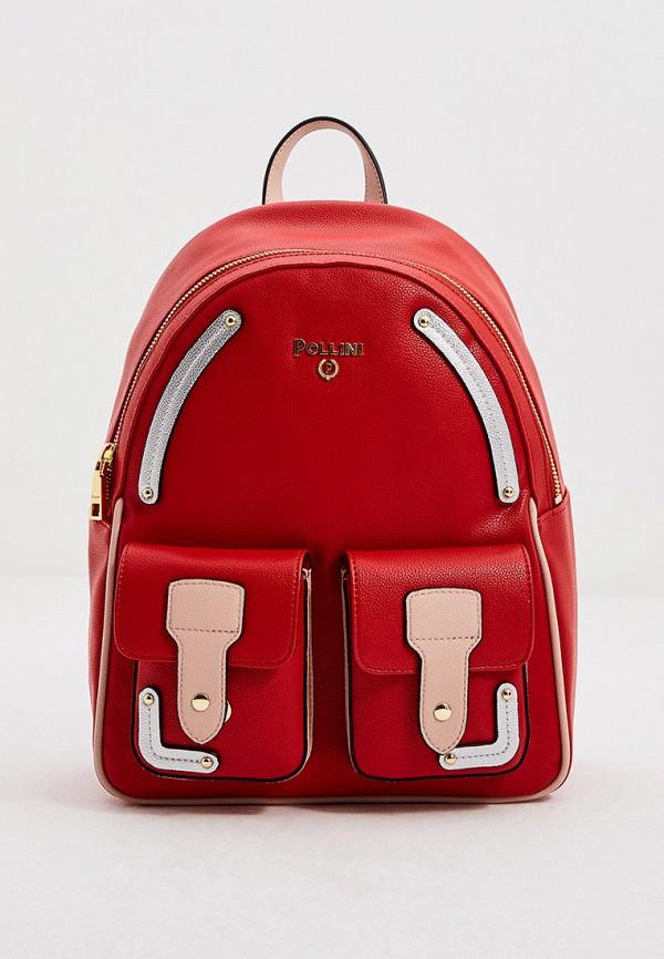 женский рюкзак pollini, красный