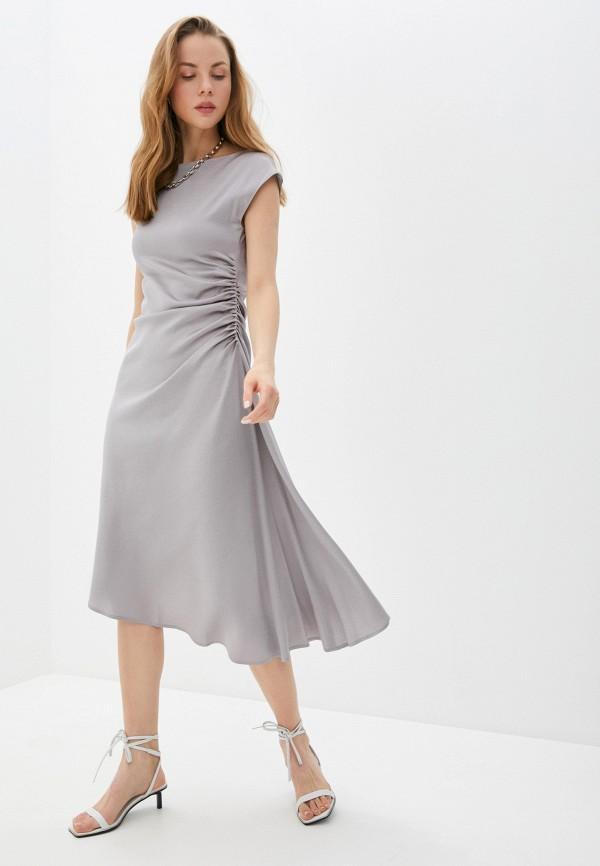 женское вечерние платье seventy, серое