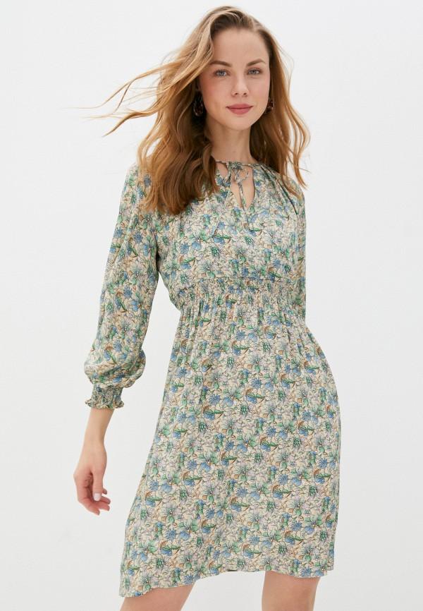 женское платье с запахом seventy, бежевое