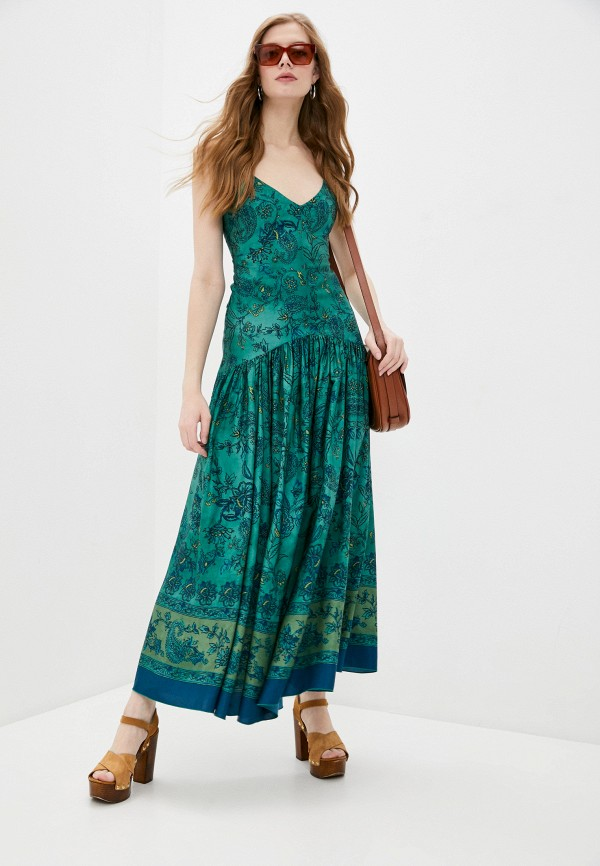 женский сарафан seventy, зеленый