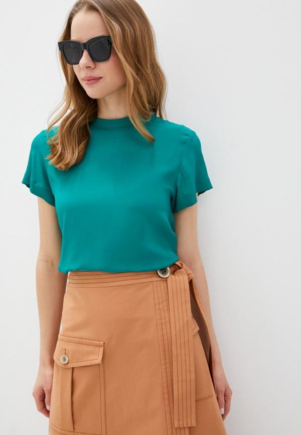 женская блузка с коротким рукавом seventy, зеленая
