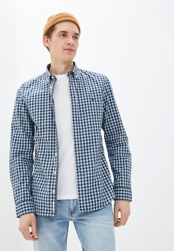 мужская рубашка marc o'polo, синяя