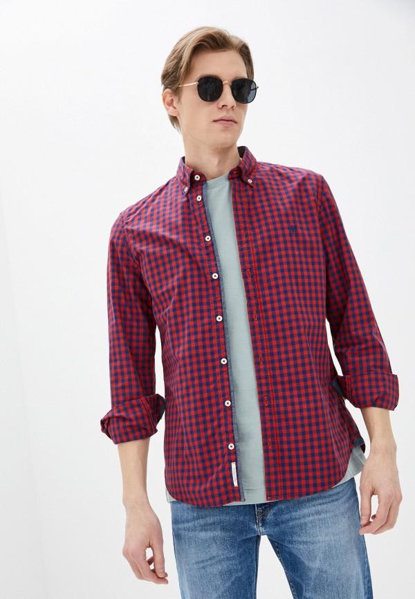 мужская рубашка marc o'polo, красная
