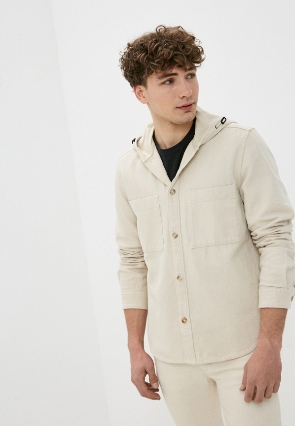 мужская рубашка marc o'polo, бежевая