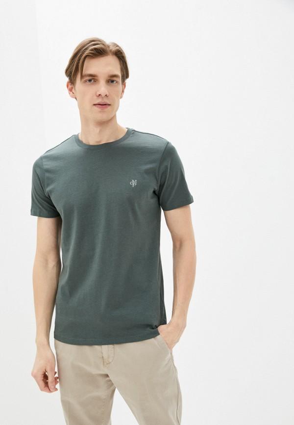 мужская футболка с коротким рукавом marc o'polo, зеленая
