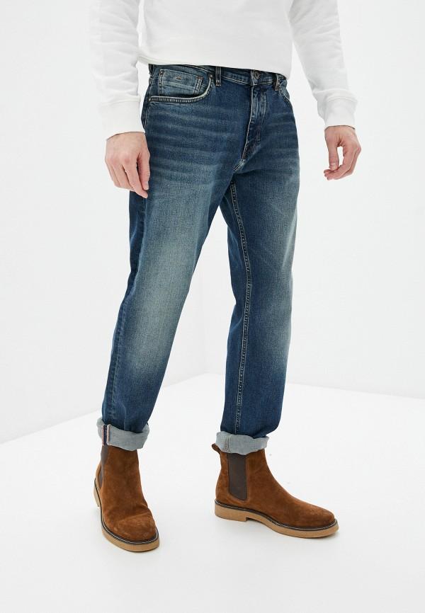 мужские зауженные джинсы marc o'polo, синие