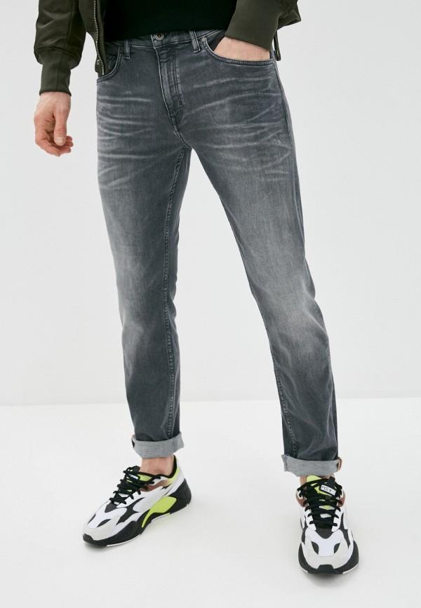 мужские зауженные джинсы marc o'polo, серые